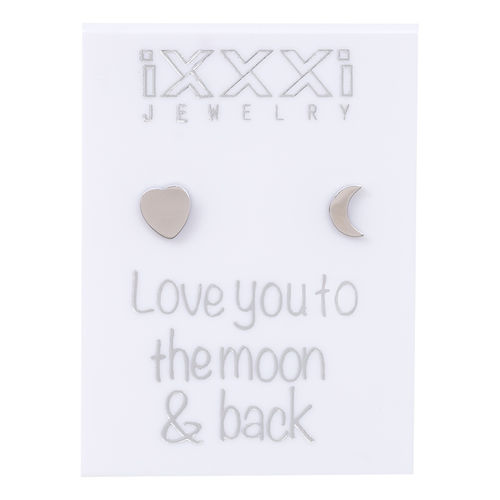 Oorknopjes Zilver Love you to the moon & back