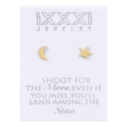 Oorknopjes Goud Shoot for the Moon, even if you miss you'll land among the Stars