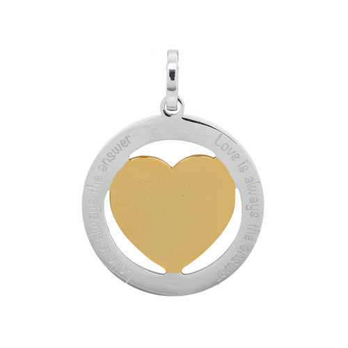 "iXXXi Hanger Hart ""Love is always the answer"" Goud/Zilver"