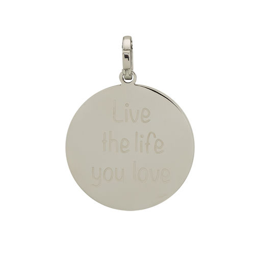 "iXXXi Hanger ""Live the life you love"" Zilver"
