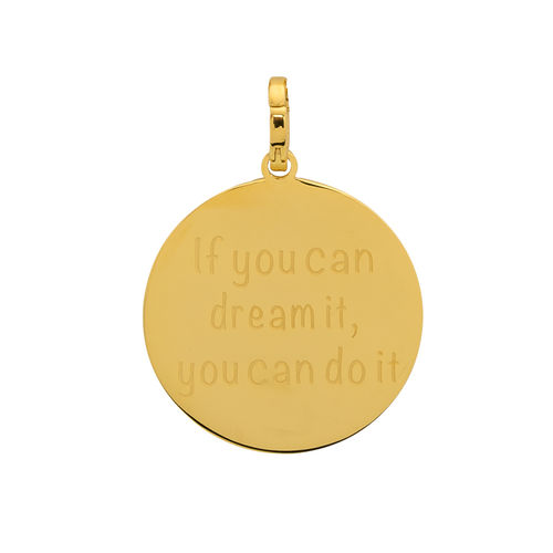"iXXXi Hanger ""If you can dream it, you can do it"" Goud"
